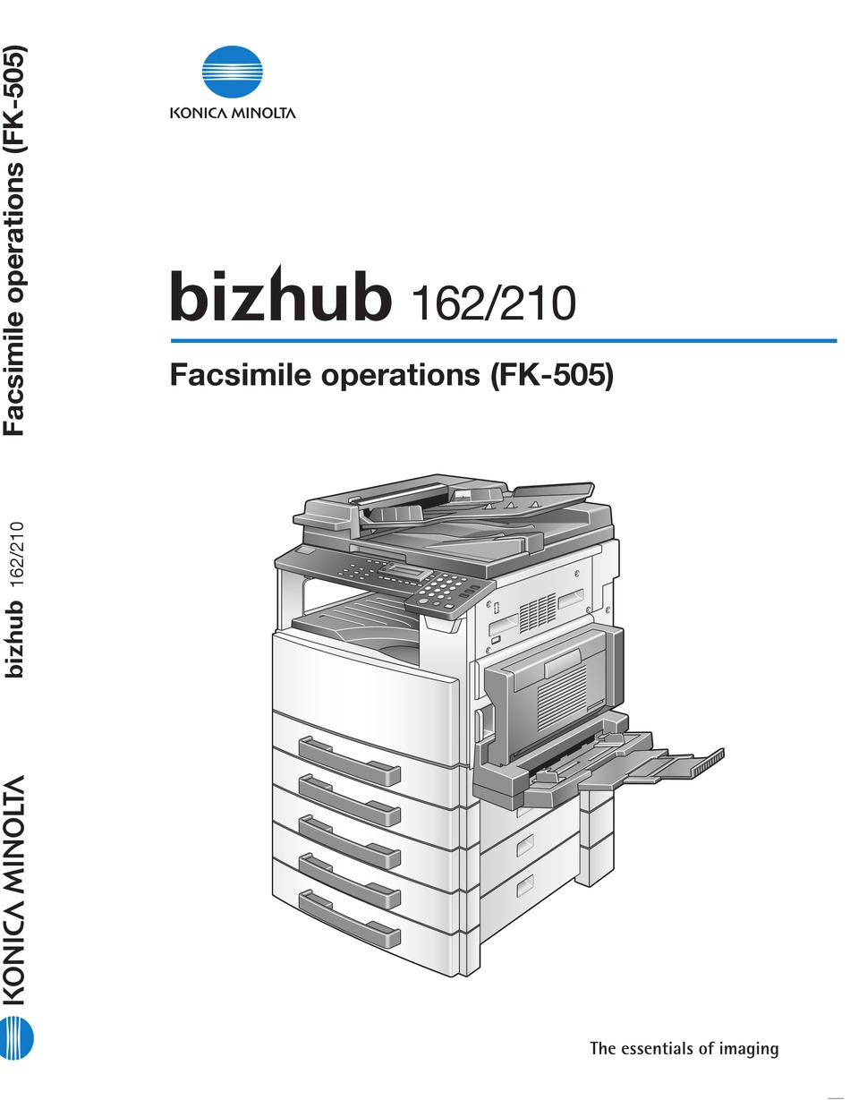 KONICA MINOLTA BIZHUB 162 FACSIMILE MANUAL Pdf Download