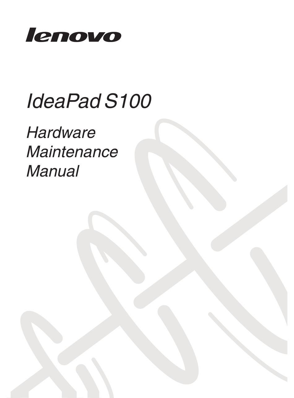 LENOVO IDEAPAD S100 HARDWARE MAINTENANCE MANUAL Pdf