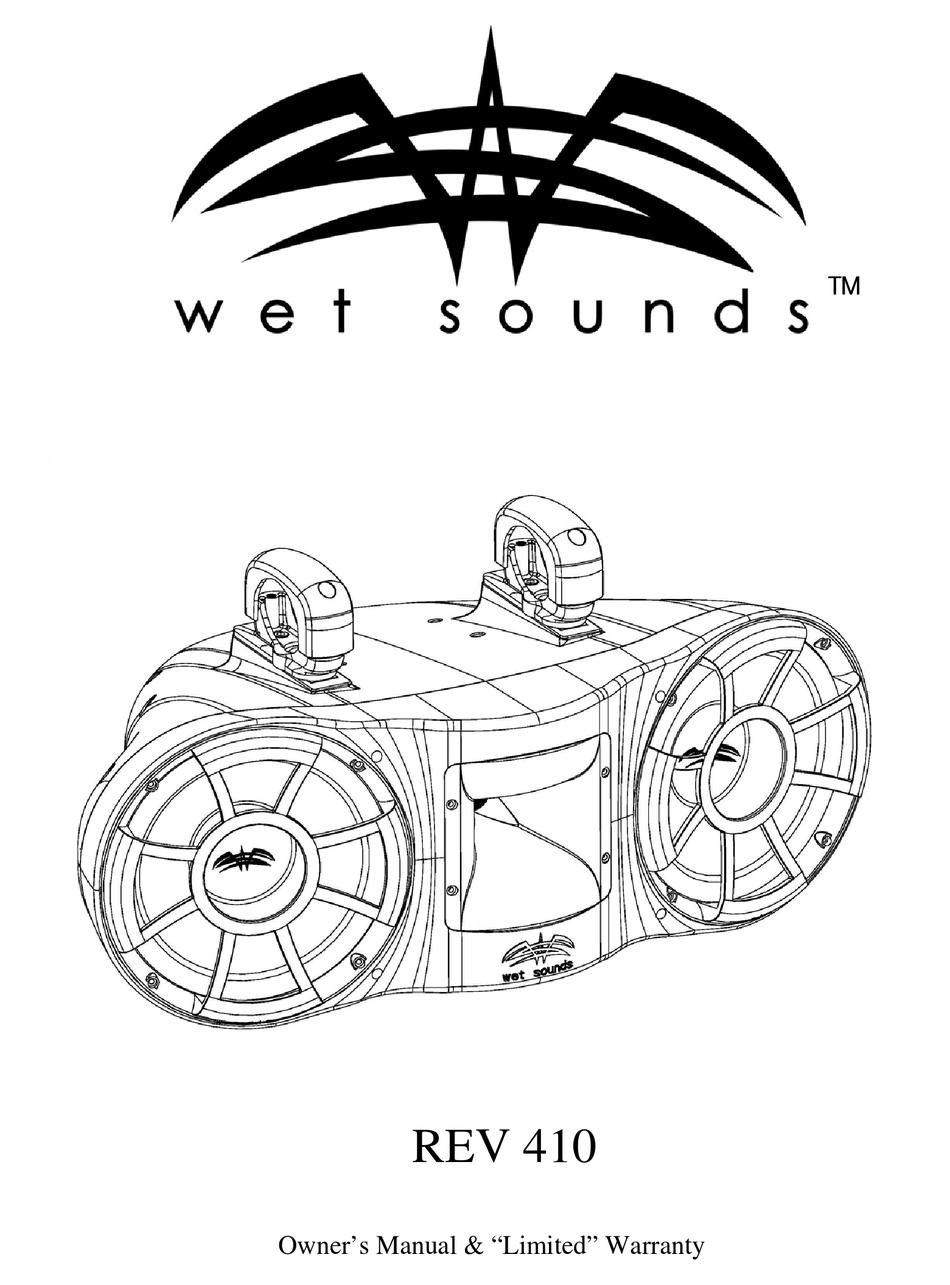 WET SOUNDS REV 410 OWNER'S MANUAL & WARRANTY Pdf Download