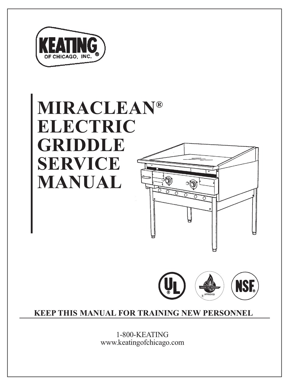 KEATING OF CHICAGO MIRACLEAN SERVICE MANUAL Pdf Download