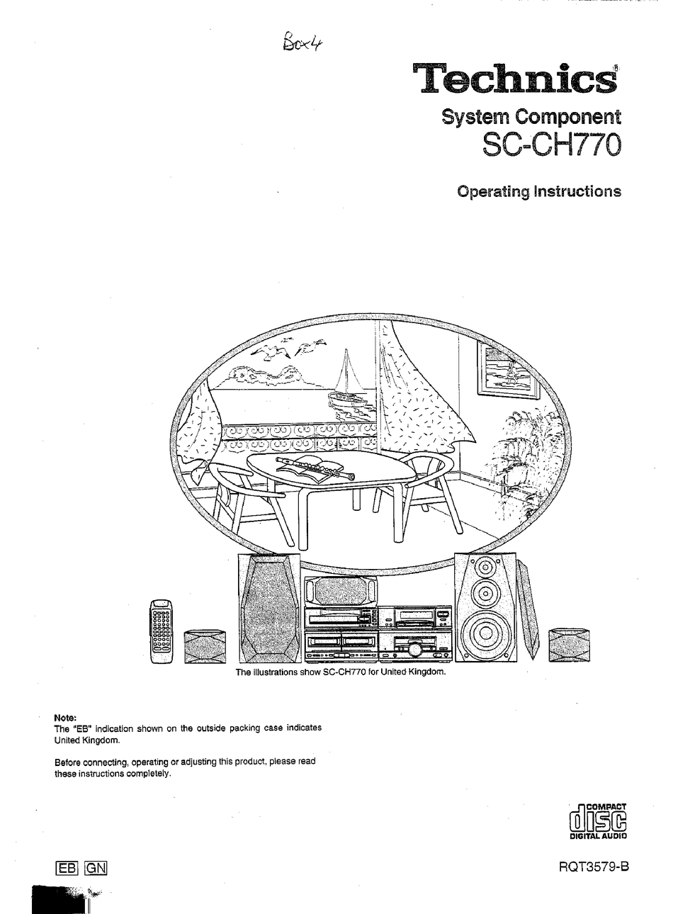 TECHNICS SC-CH770 OPERATING INSTRUCTIONS MANUAL Pdf