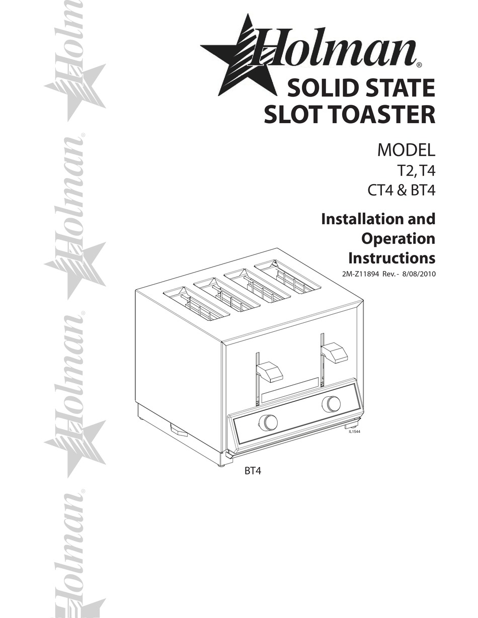 HOLMAN T2 INSTALLATION AND OPERATION INSTRUCTIONS MANUAL