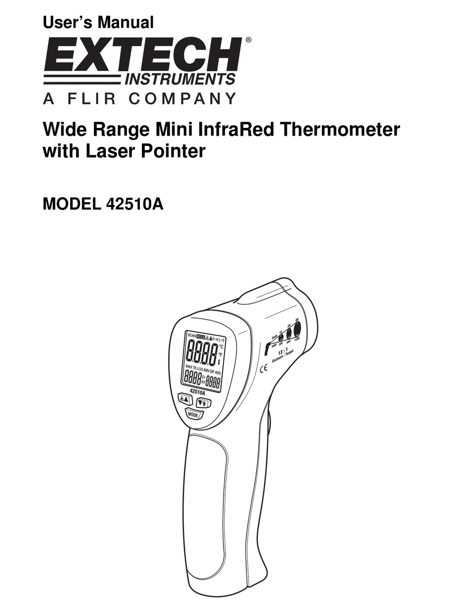 EXTECH INSTRUMENTS 42510A USER MANUAL Pdf Download