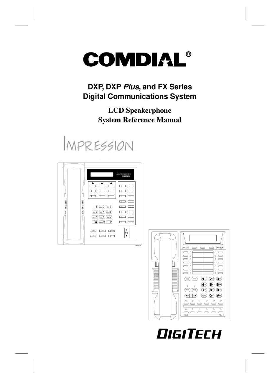 COMDIAL IMRESSION 2022S REFERENCE MANUAL Pdf Download
