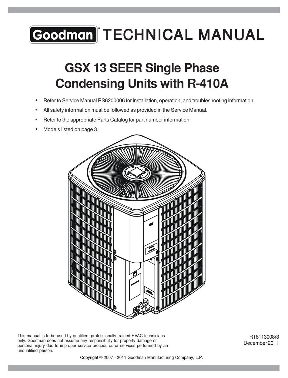 Goodman Air Conditioning Wiring Diagram / Goodman Fan Wont