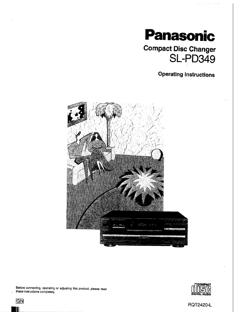PANASONIC SL-PD349 OPERATING INSTRUCTIONS MANUAL Pdf
