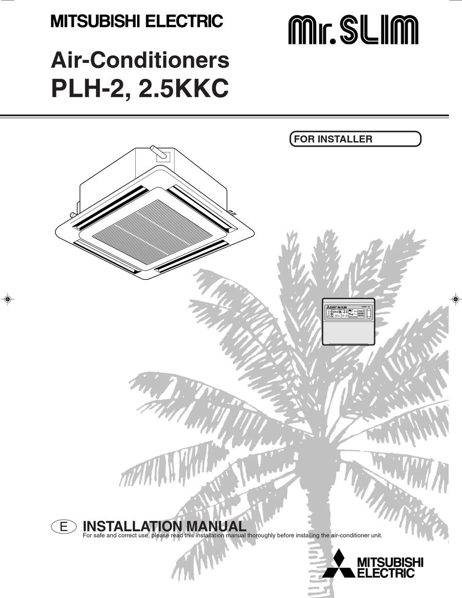 MITSUBISHI ELECTRIC PLH-2 INSTALLATION MANUAL Pdf Download