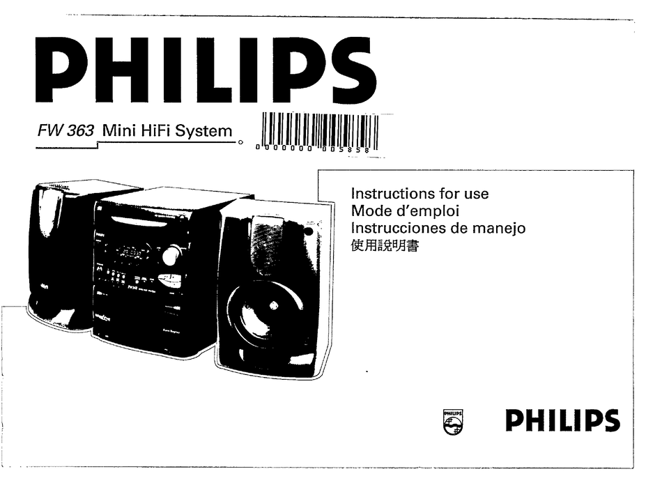 PHILIPS FW 363 INSTRUCTIONS FOR USE MANUAL Pdf Download