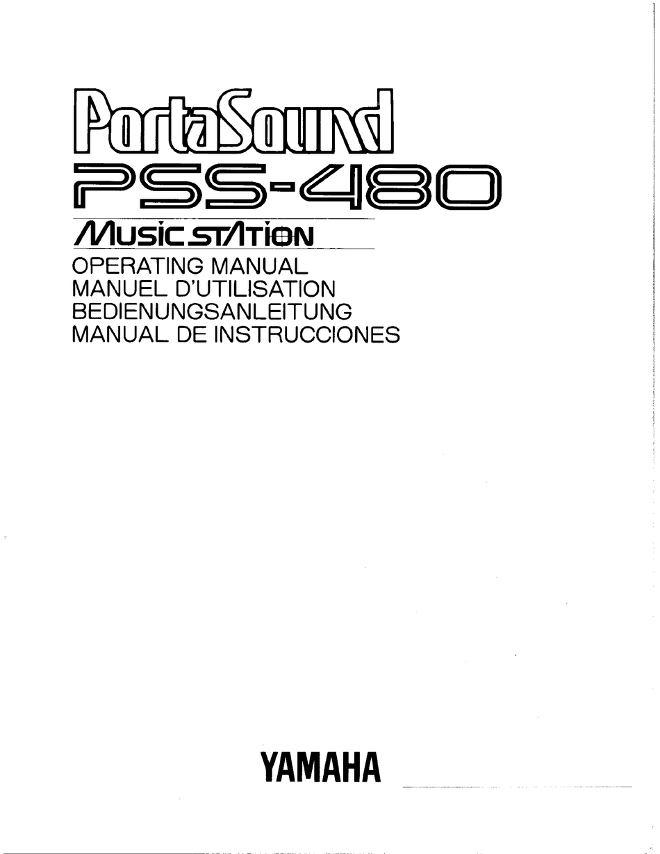 YAMAHA PORTASOUND PSS-480 OPERATING MANUAL Pdf Download