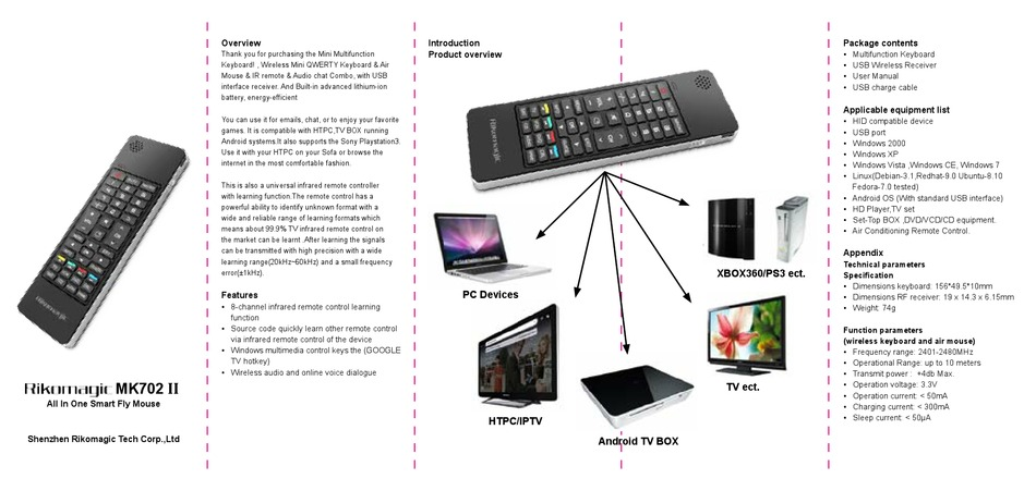 RIKOMAGIC MK702 TV ECT. II USER MANUAL Pdf Download
