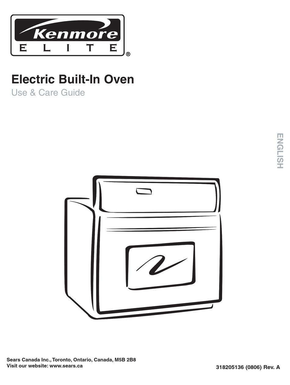 KENMORE ELECTRIC BUILT-IN OVEN USE & CARE MANUAL Pdf