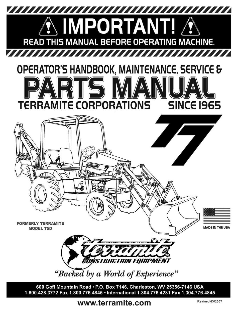 Service Manual For Terramite T5c