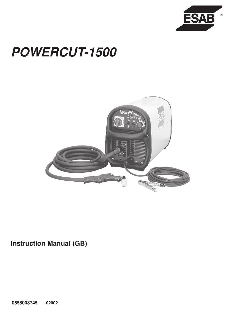 ESAB POWERCUT-1500 INSTRUCTION MANUAL Pdf Download