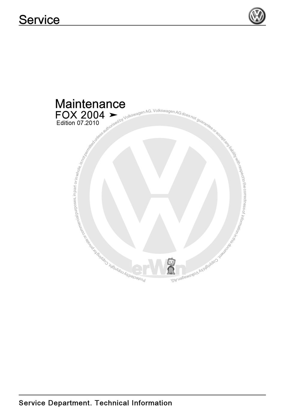 Volkswagen Fox Repair Manual Pdf / Vw Fox Body Repair
