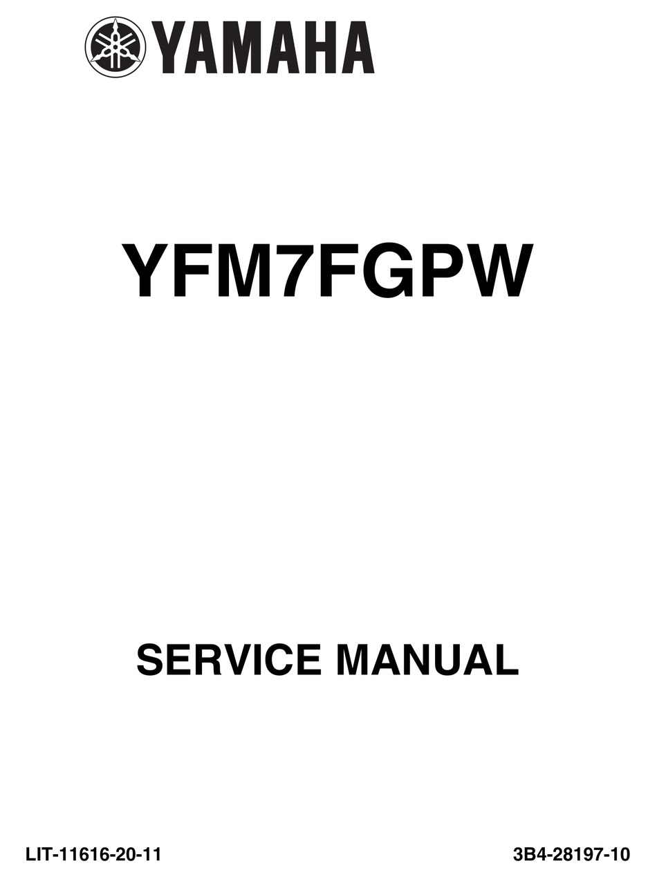 Yamaha Yfm 7Fgpw 2000 2009 Service Repair Manual Download