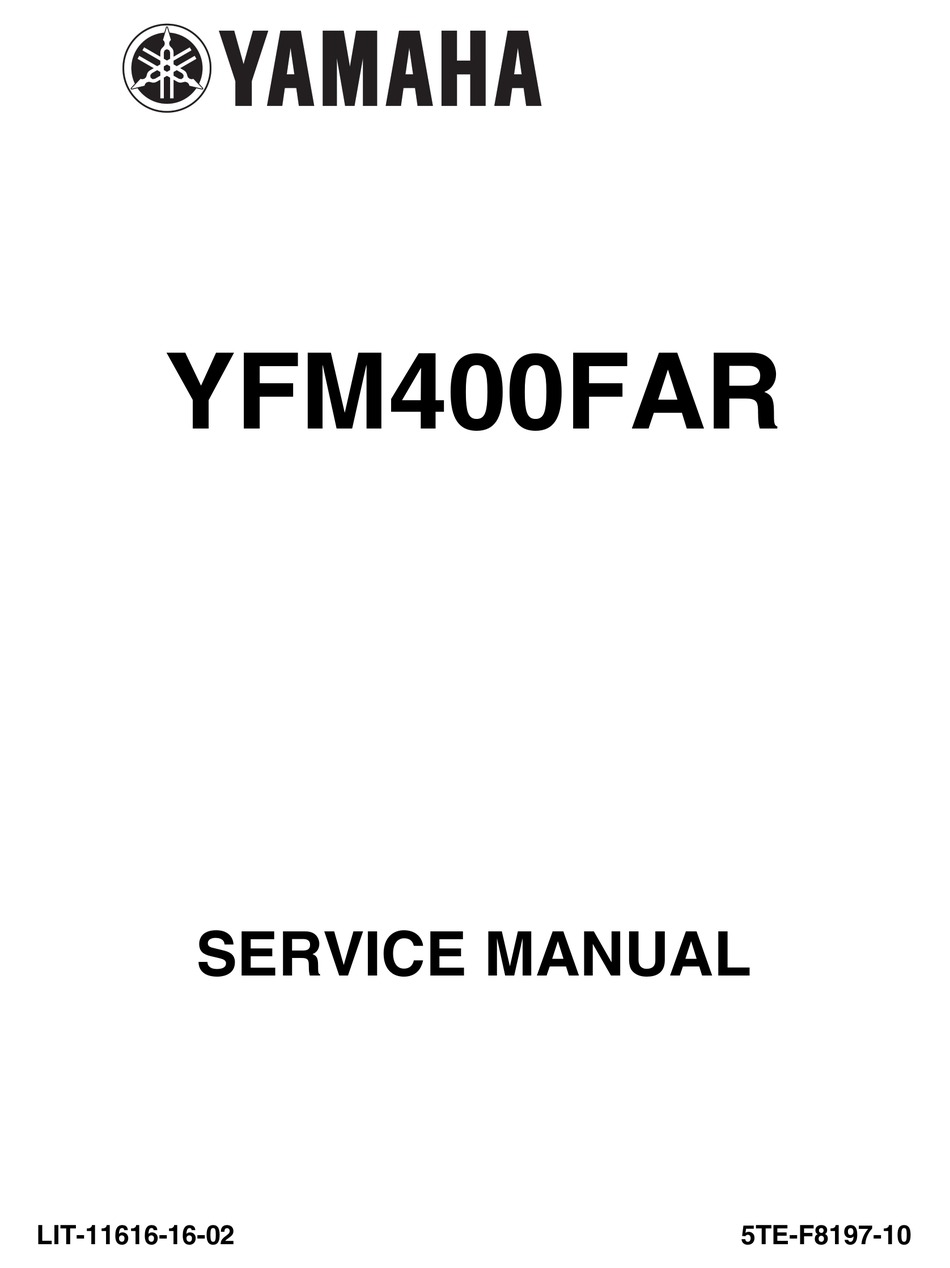 Yamaha Atv Yfm 40 Kodiak 2000 2009 Service Repair Manual