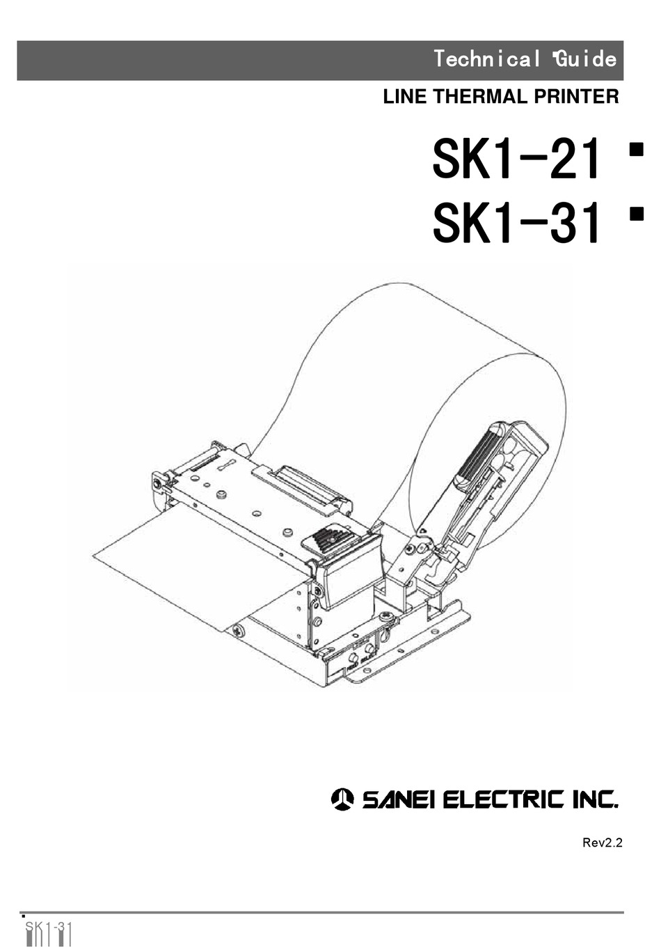 SANEI ELECTRIC SK1-21 TECHNICAL MANUAL Pdf Download