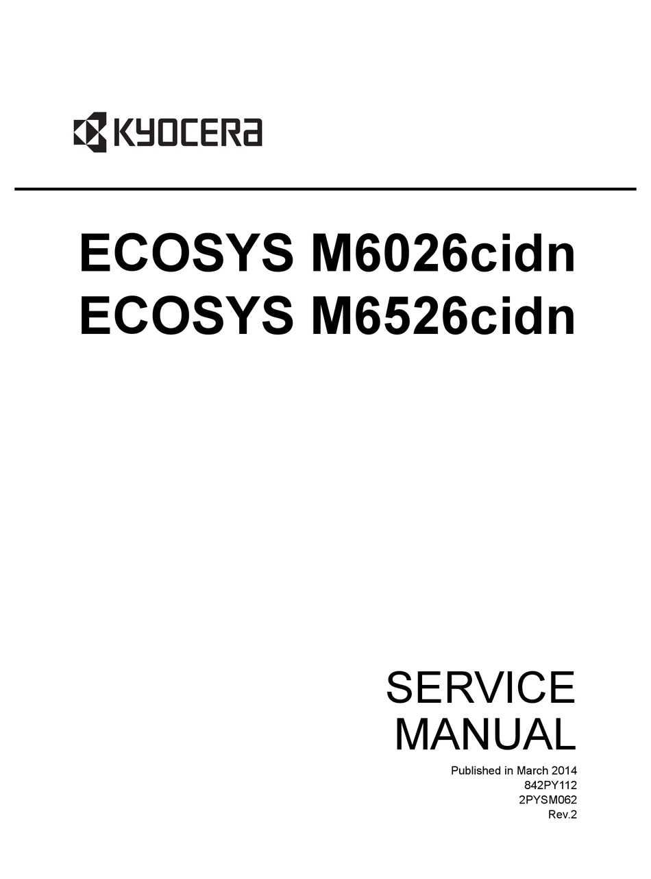 KYOCERA ECOSYS M6026CIDN SERVICE MANUAL Pdf Download