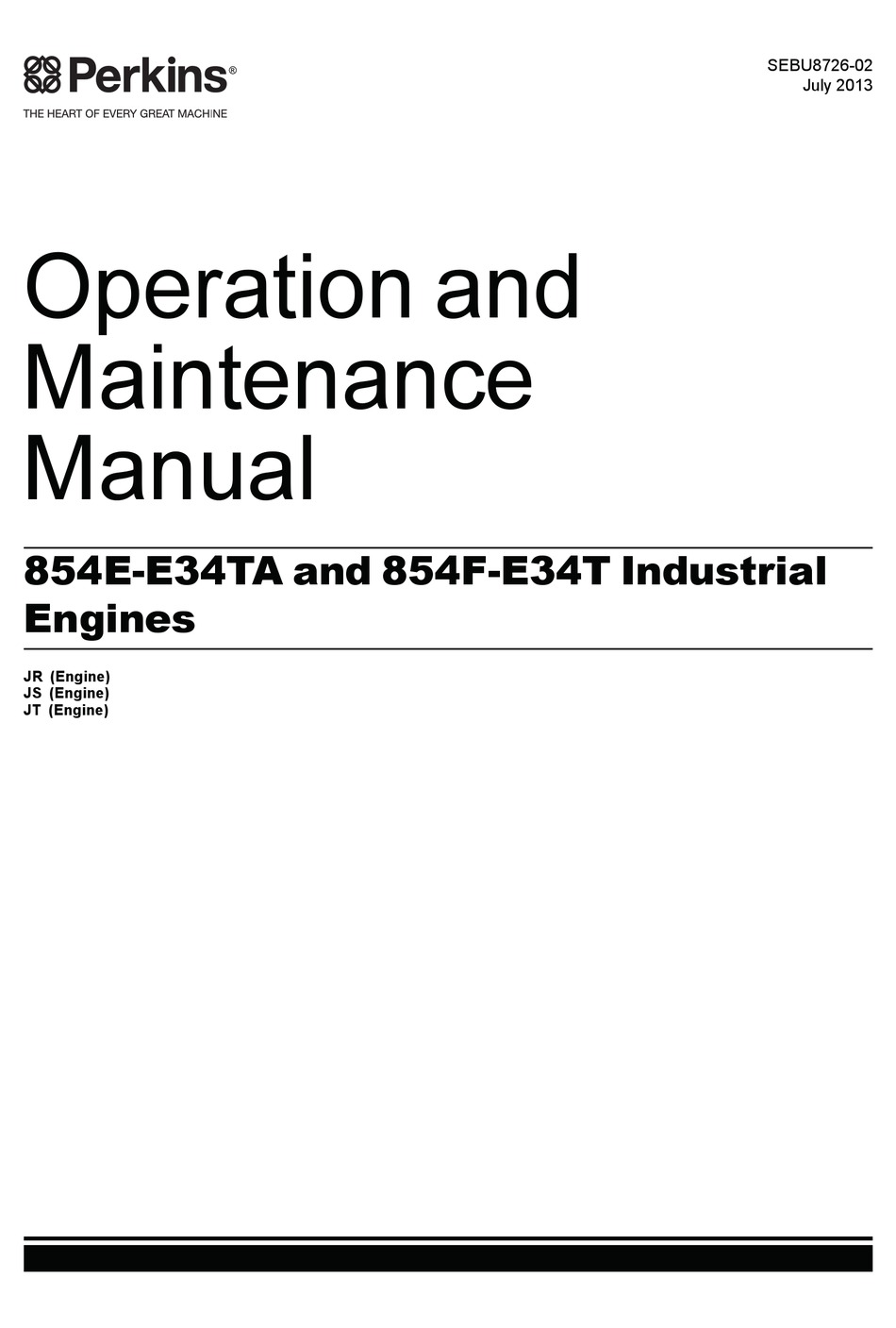 PERKINS 854E-E34TA OPERATION AND MAINTENANCE MANUAL Pdf