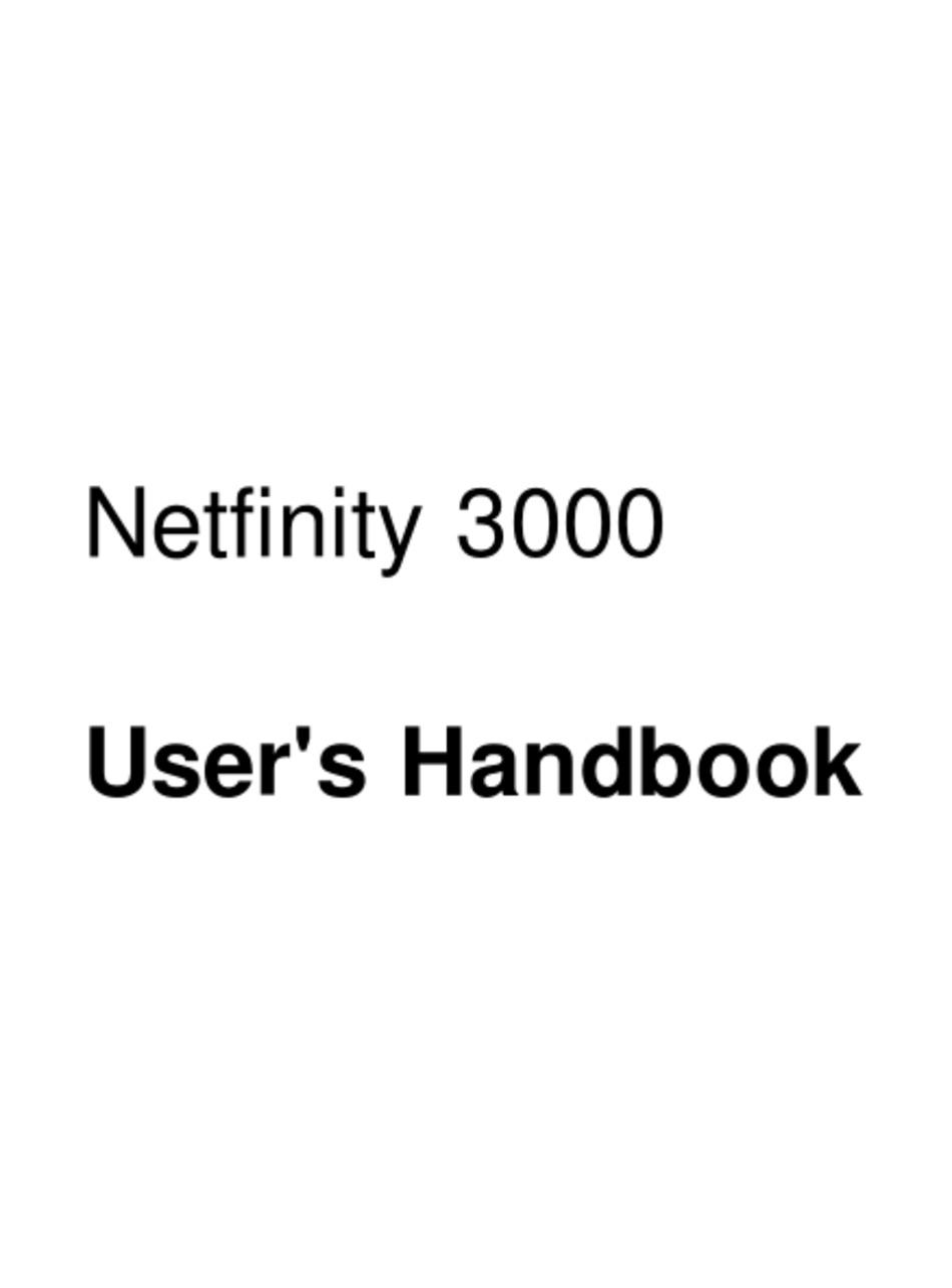IBM NETFINITY 3000 USER HANDBOOK MANUAL Pdf Download