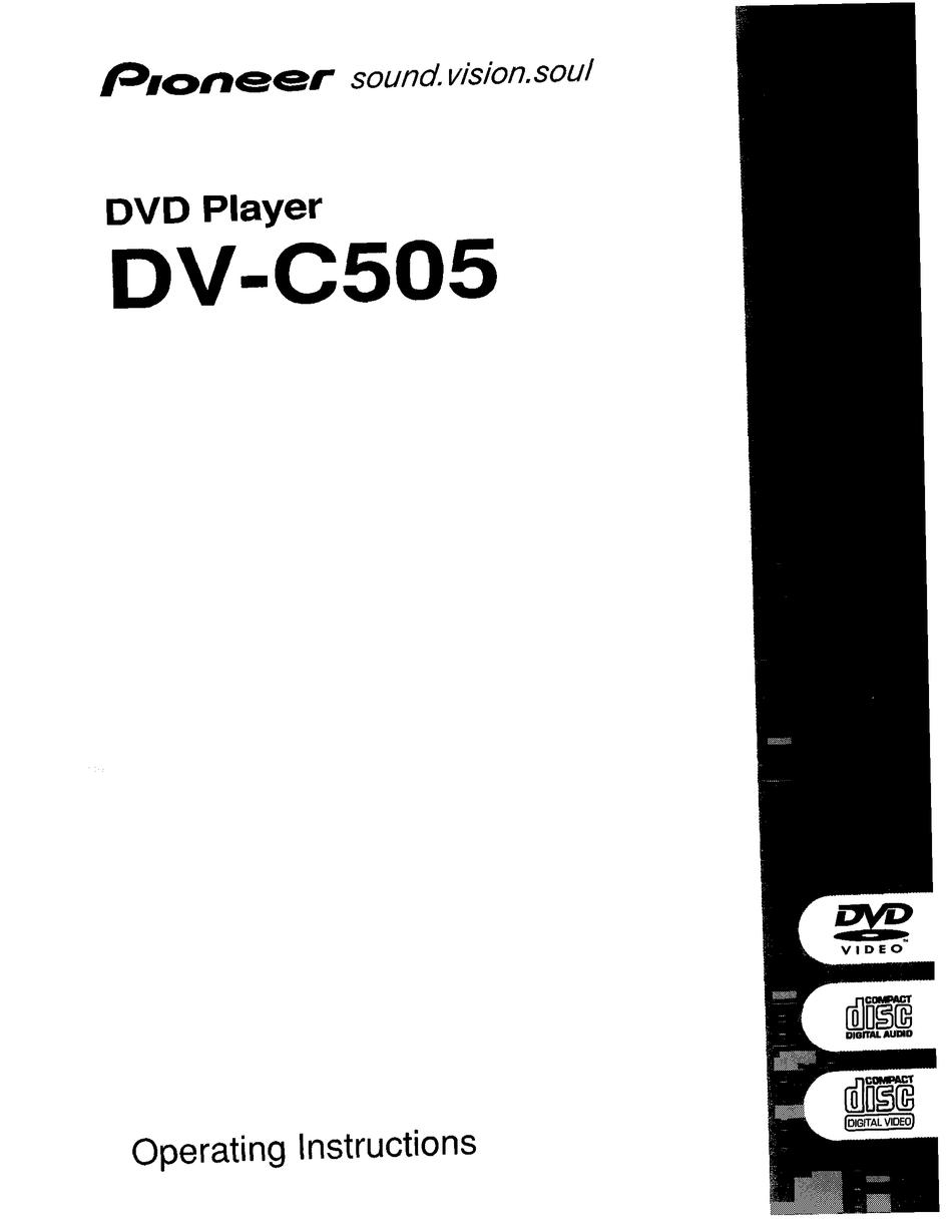 PIONEER DV-C505 OPERATING INSTRUCTIONS MANUAL Pdf Download
