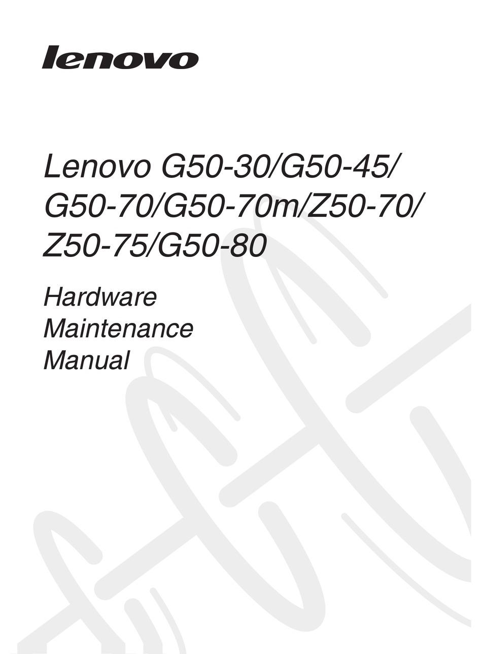 LENOVO G50-80 HARDWARE MAINTENANCE MANUAL Pdf Download