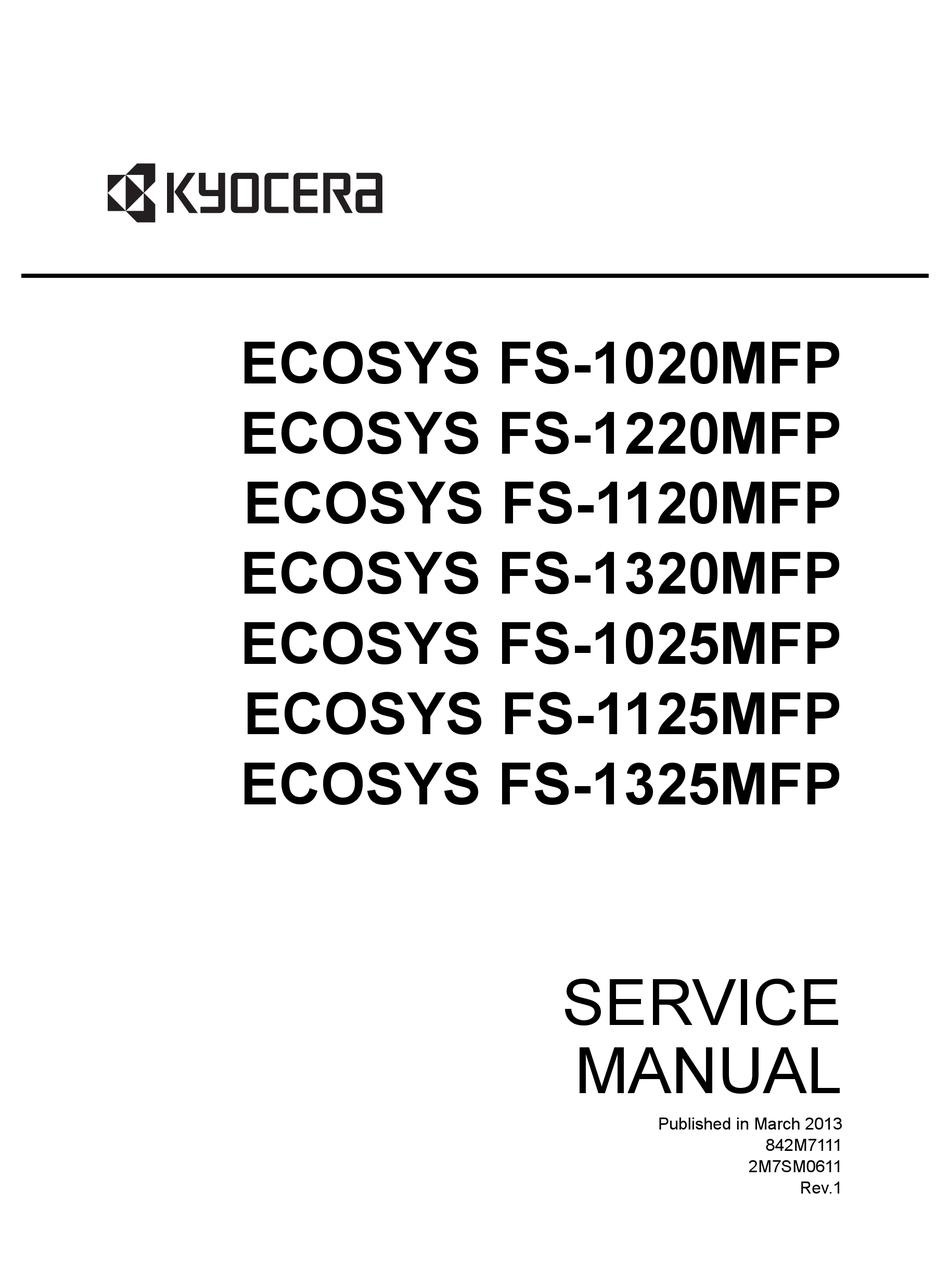KYOCERA ECOSYS FS-1020MFP SERVICE MANUAL Pdf Download