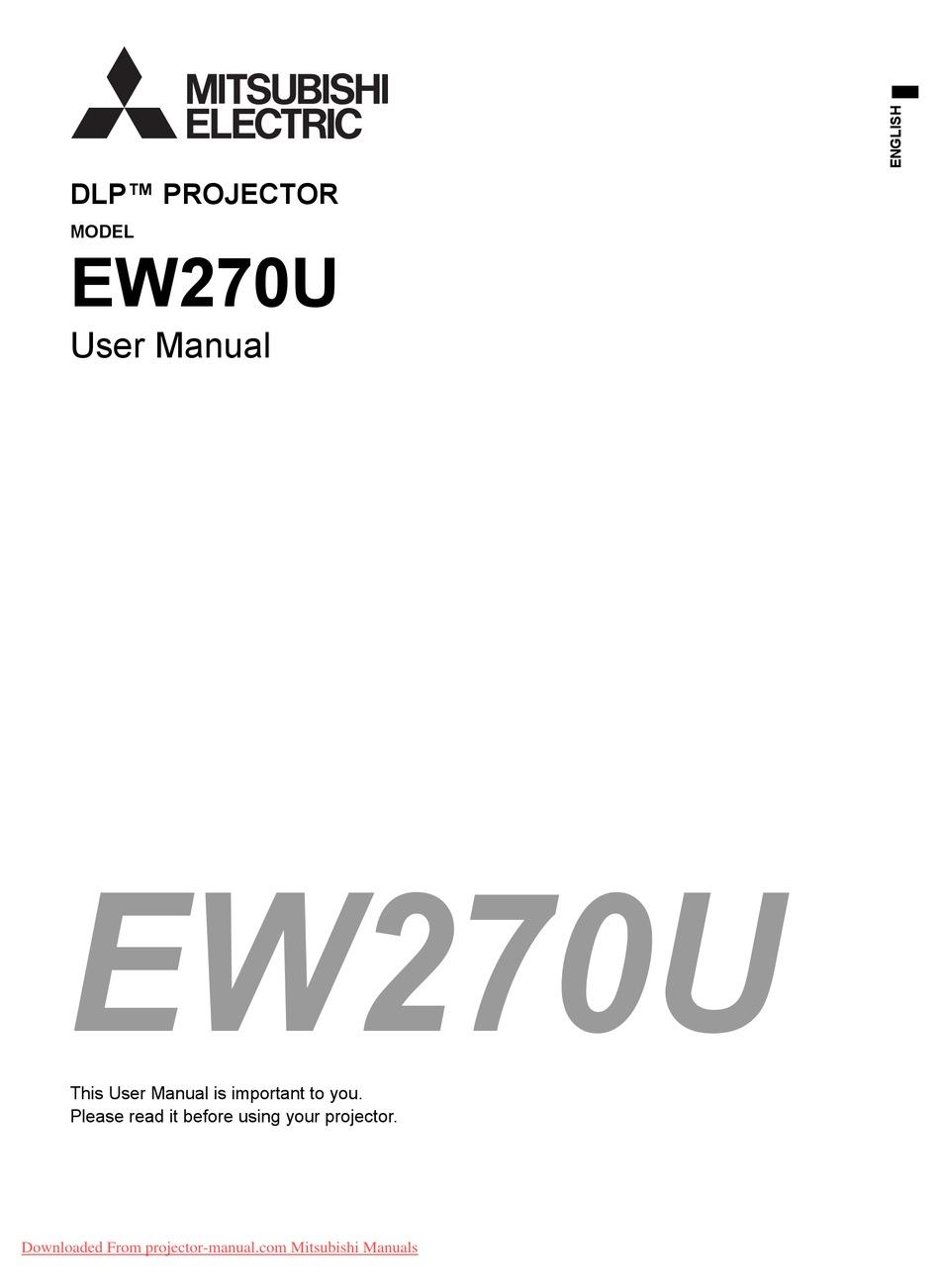 MITSUBISHI ELECTRIC EW270U USER MANUAL Pdf Download