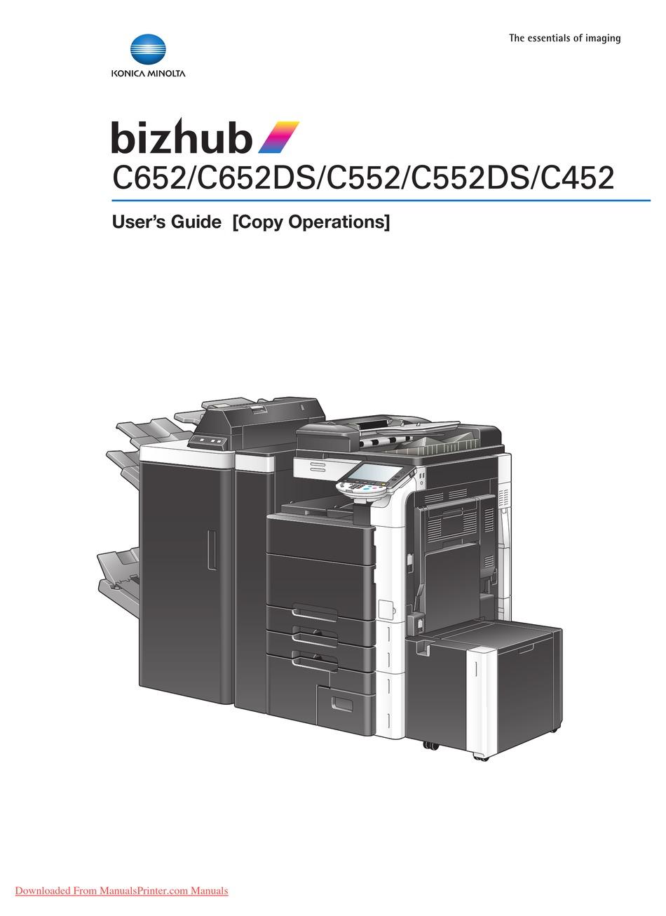 Bizhub C452 Driver - visualclever