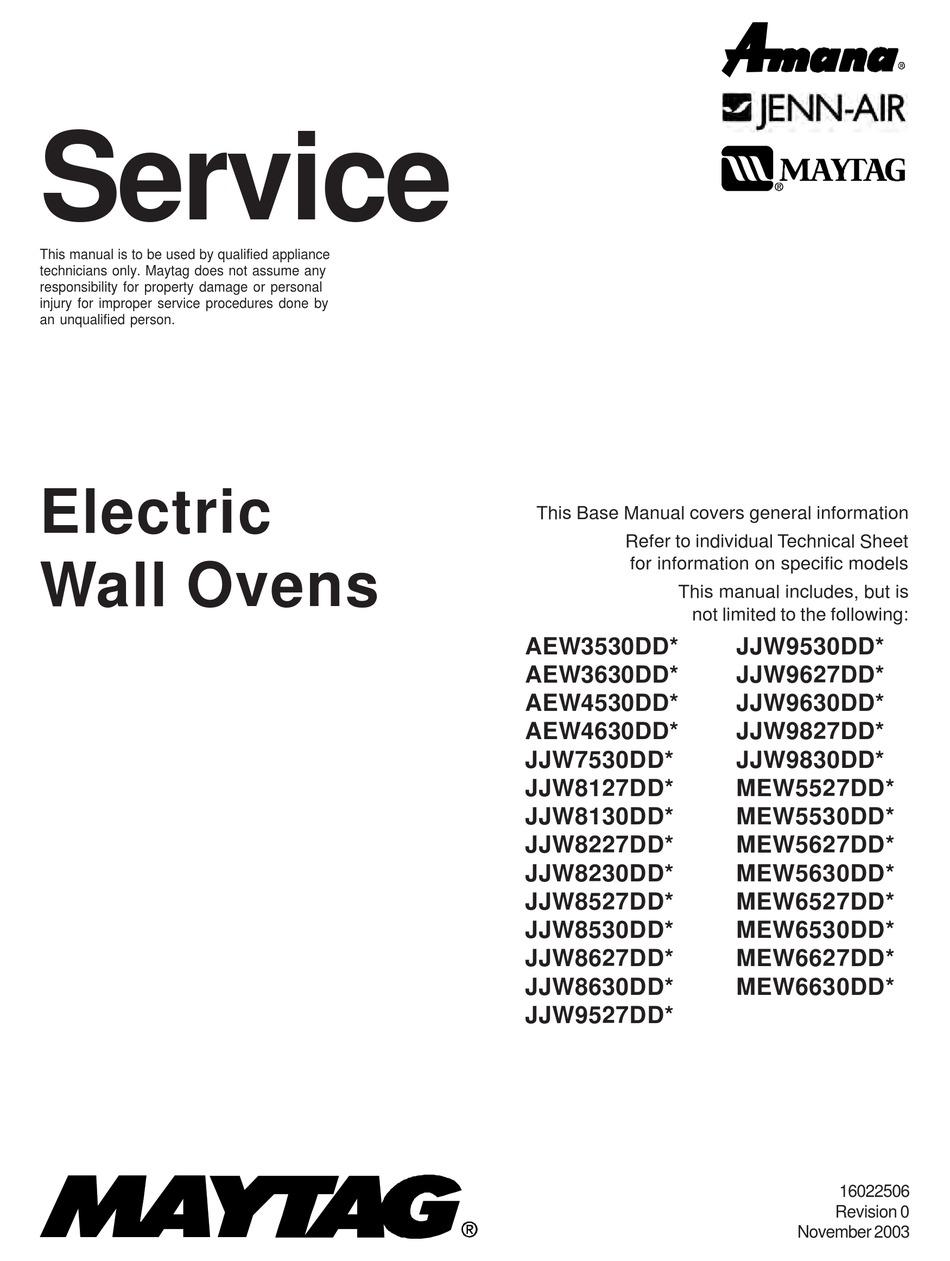 MAYTAG AEW3530DD SERIES SERVICE MANUAL Pdf Download