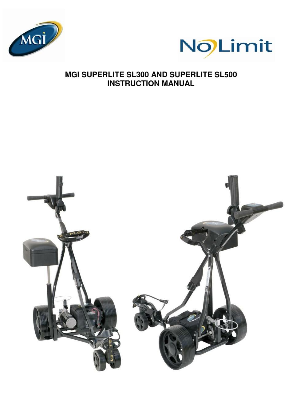MGI SUPERLITE SL300 INSTRUCTION MANUAL Pdf Download
