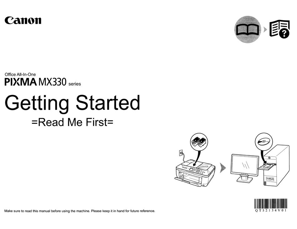 CANON PIXMA MX330 SERIES GETTING STARTED Pdf Download