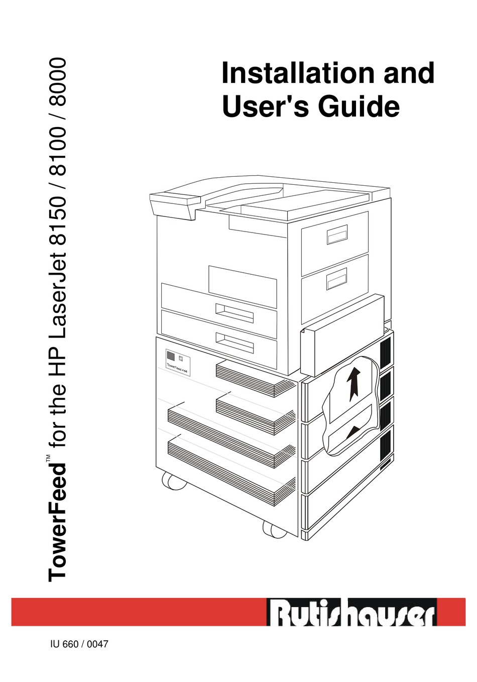 RUTISHAUSER 8000 INSTALLATION AND USER MANUAL Pdf Download