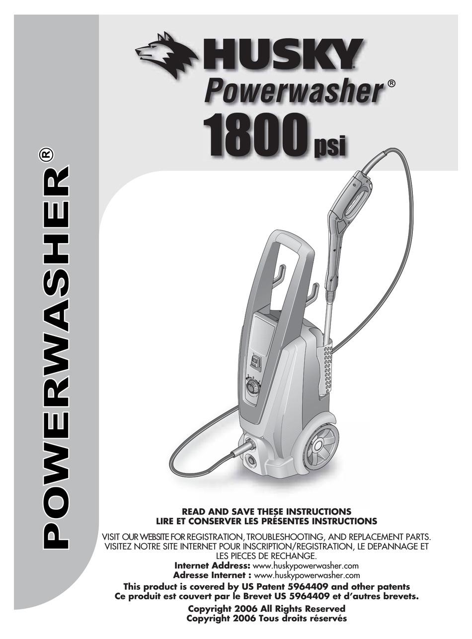 Husky power washer 1800 psi