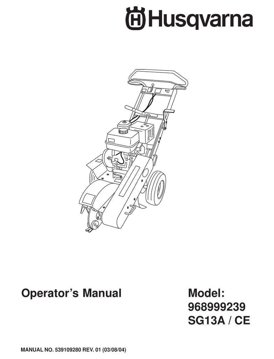 HUSQVARNA 968999239 OPERATOR'S MANUAL Pdf Download