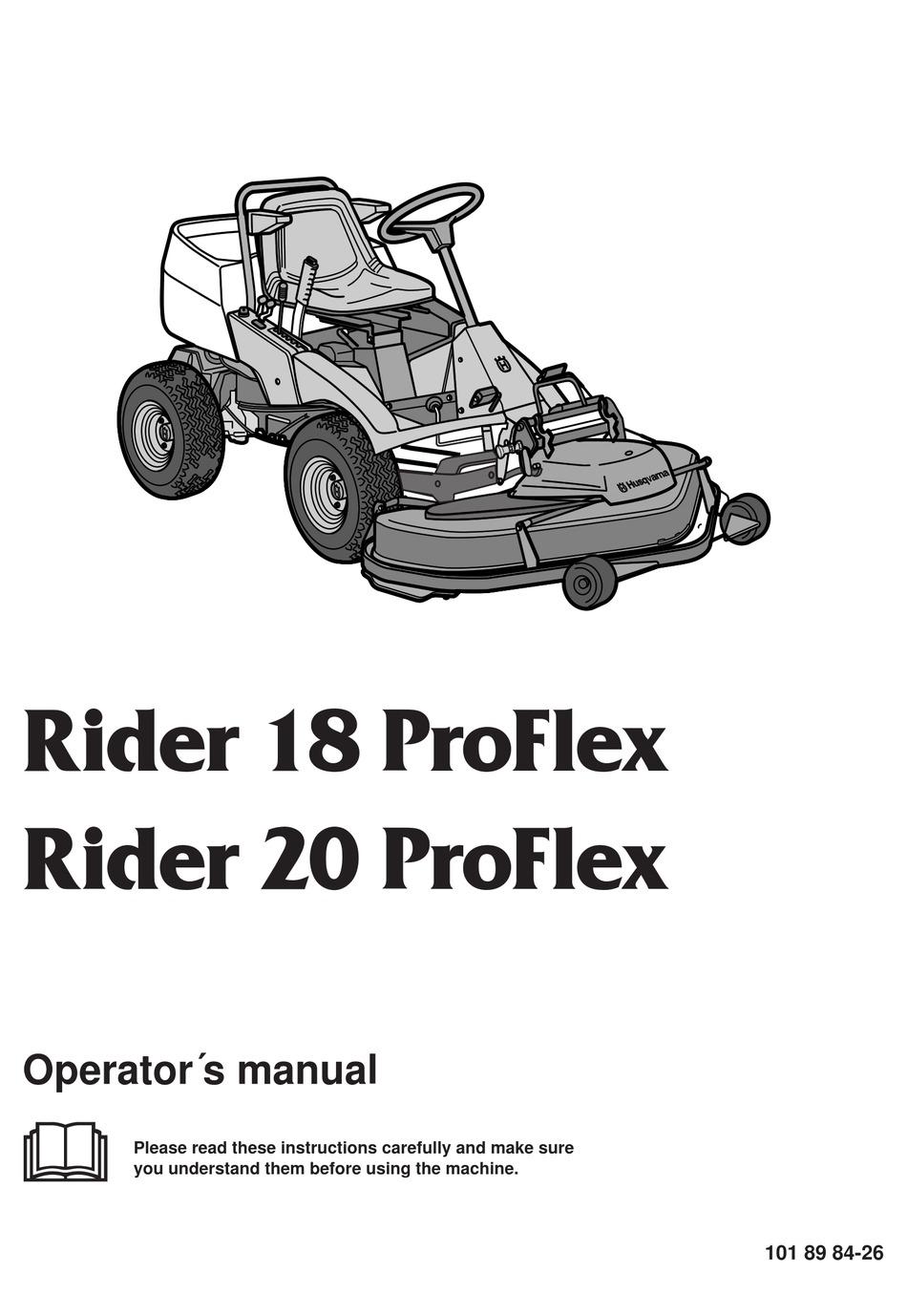 HUSQVARNA PROFLEX 18 PROFLEX, 20 PROFLEX OPERATOR'S MANUAL