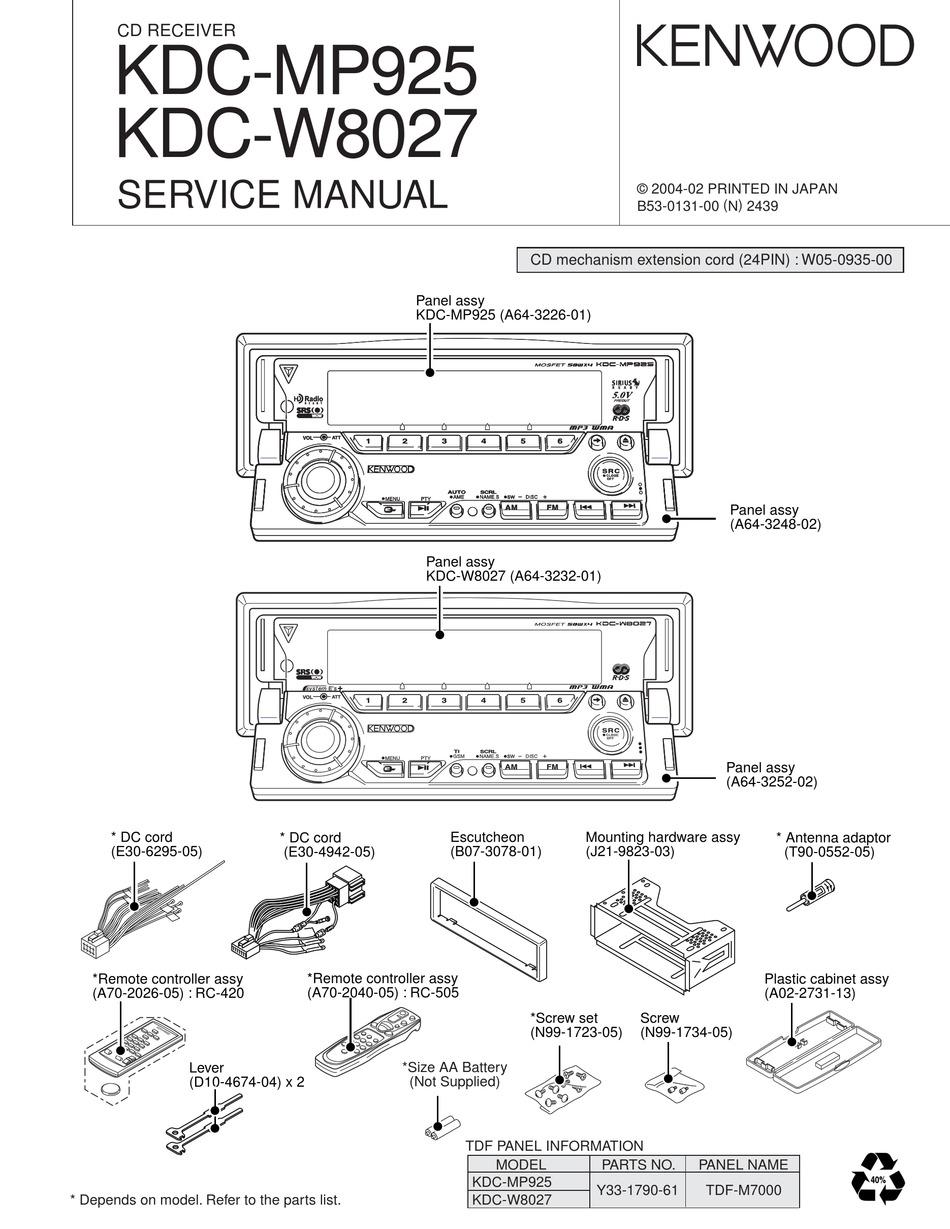 Kenwood Kdc Mp242 Wiring Diagram / Kenwood Kdc Mp242