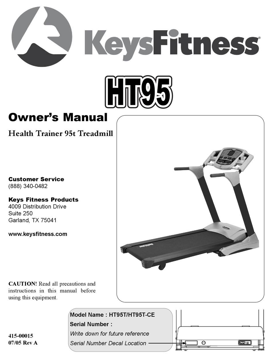 Keys Fitness Treadmill Maintenance & Care