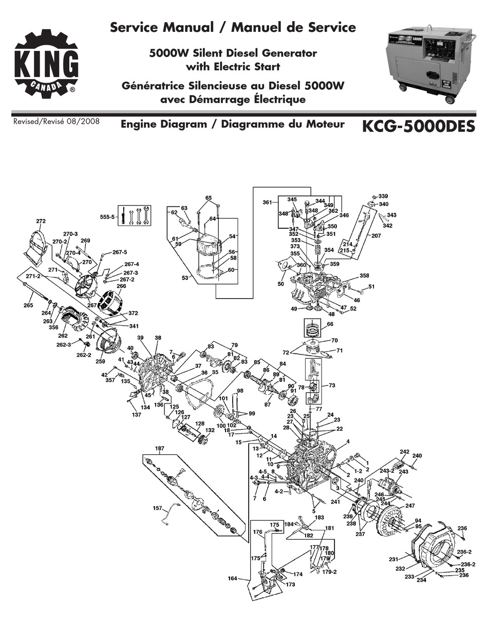 KING CANADA KCG-5000DES SERVICE MANUAL Pdf Download
