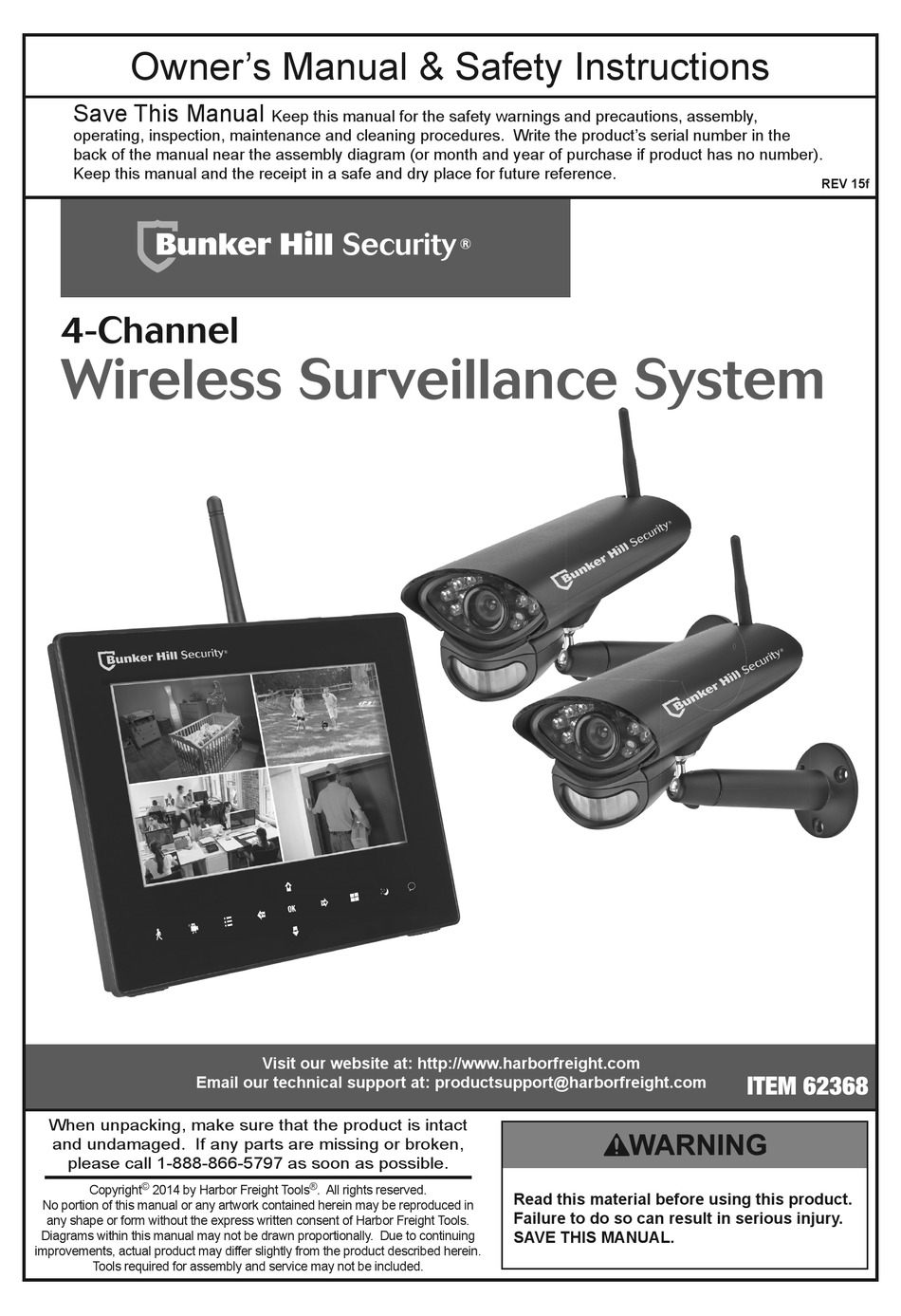 Bunker Hill Security 63129 Owner's manual | Manualzz