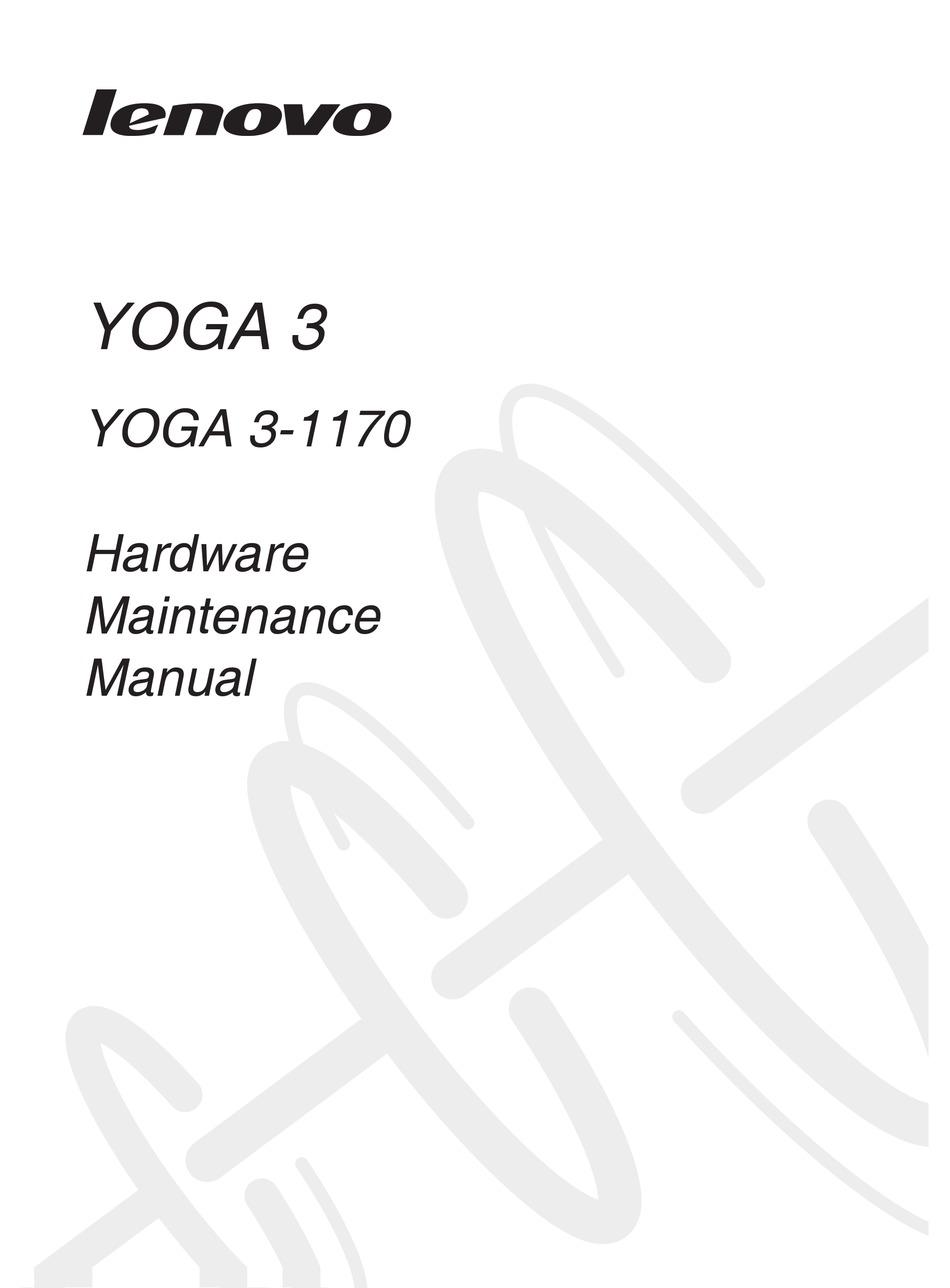 LENOVO YOGA 3-1170 HARDWARE MAINTENANCE MANUAL Pdf