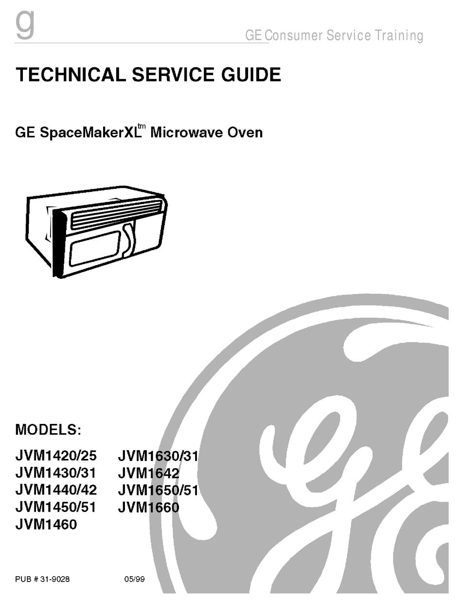 GE SPACEMAKERXL JMV1420 TECHNICAL SERVICE MANUAL Pdf