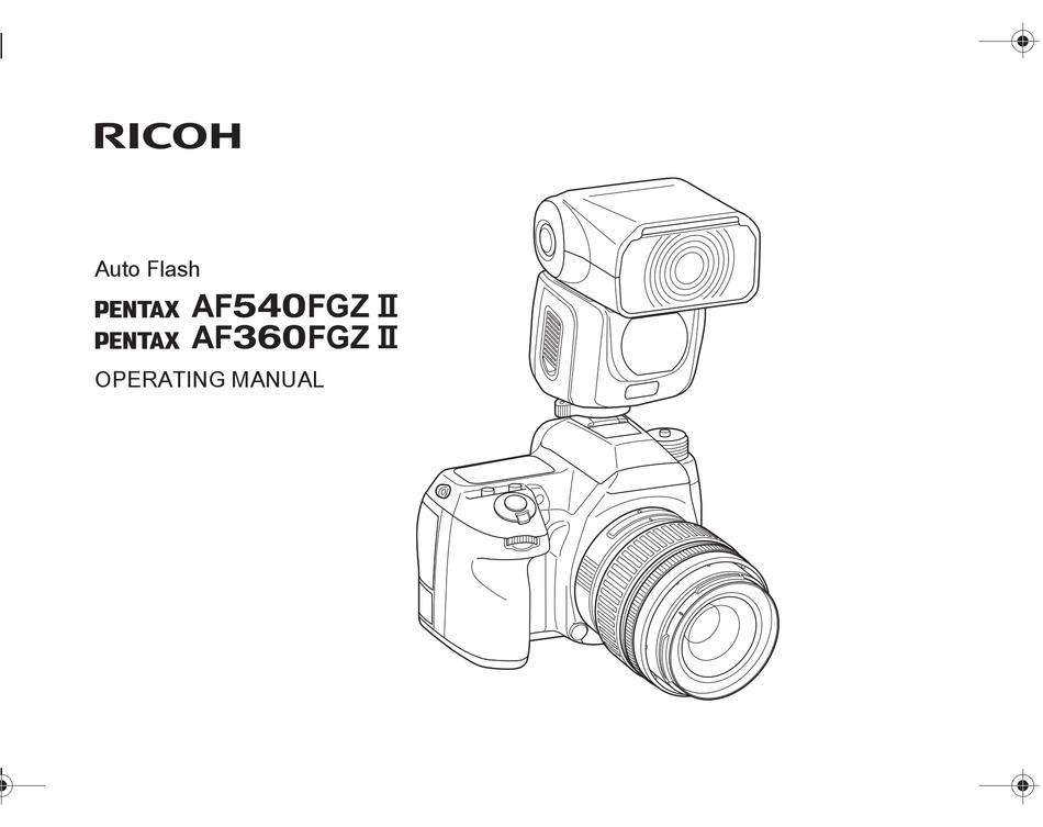 RICOH PENTAX AF540FGZ II OPERATING MANUAL Pdf Download