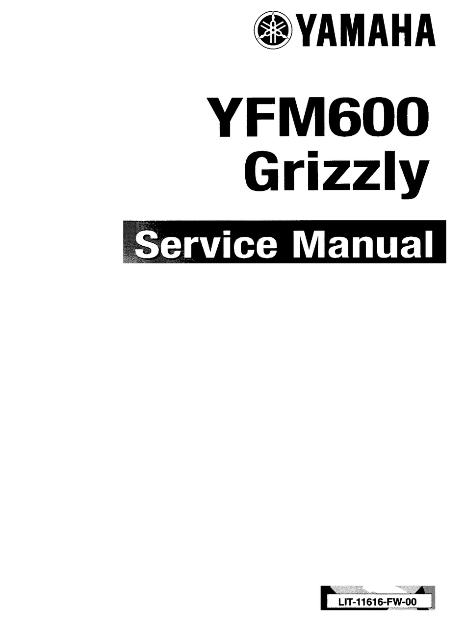 Yamaha Atv Yfm 600 Grizzly 1998 2001 Service Repair Manual