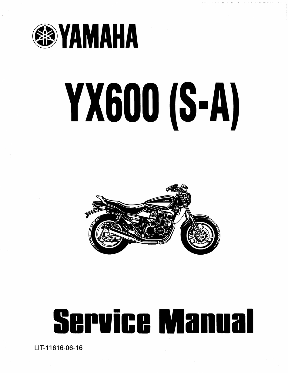 Other Motorcycle Manuals Yamaha YX600 1986-1989 YX600S T U