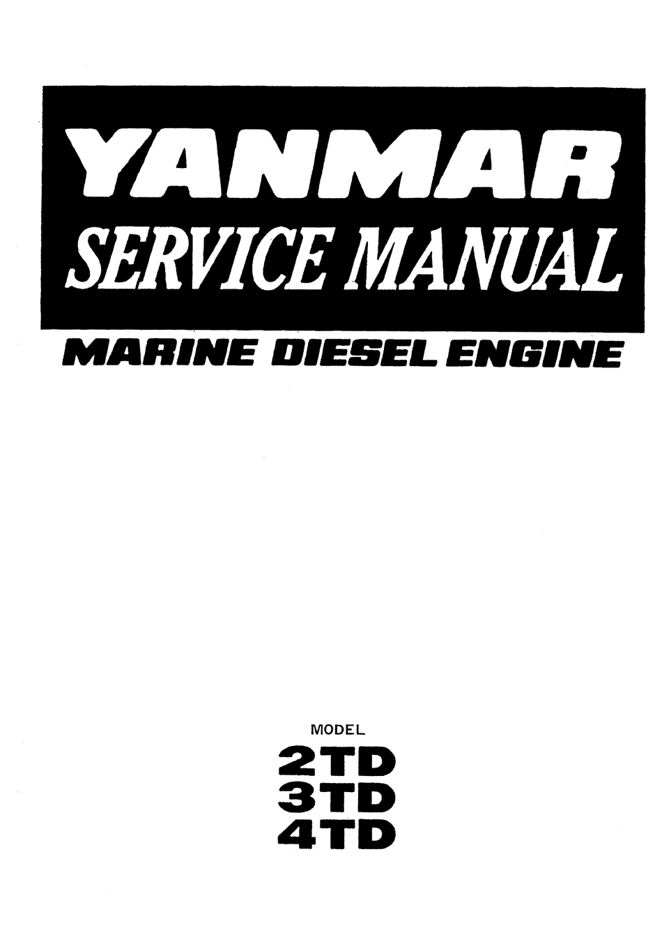 Yanmar 2td Service Manual Pdf Download Manualslib