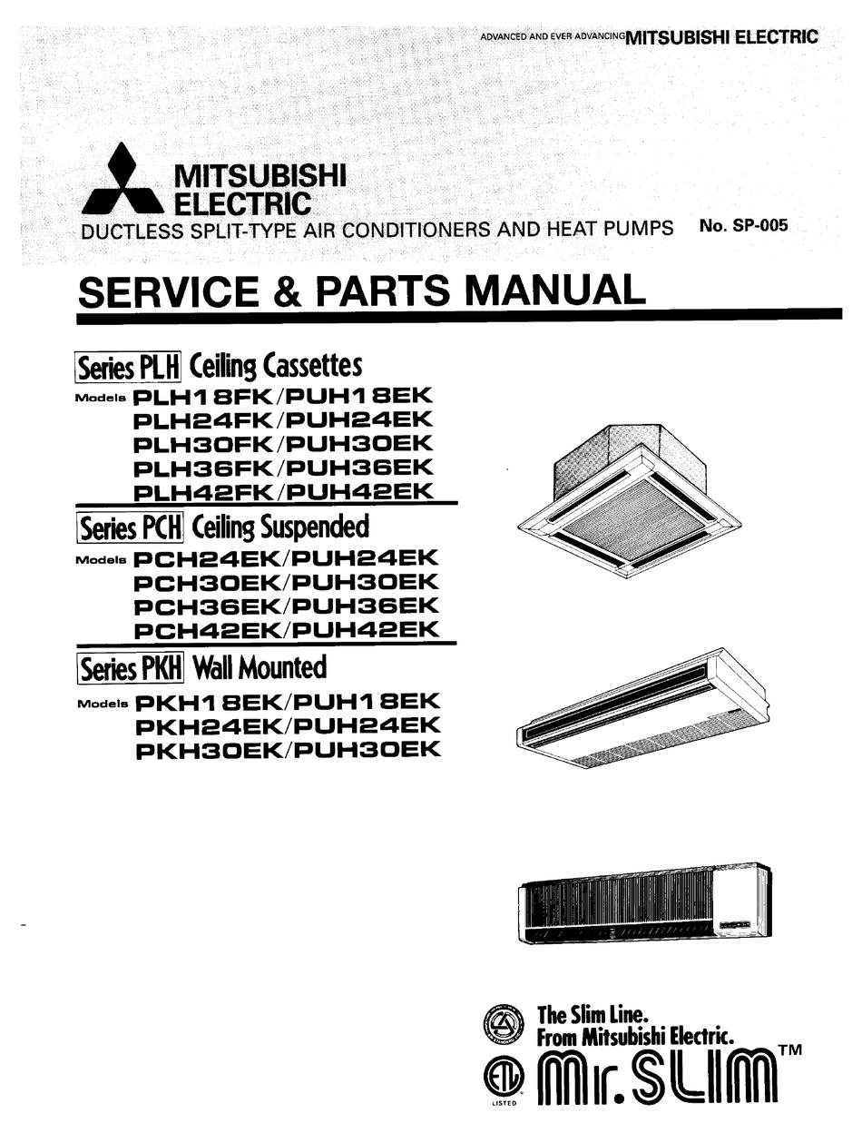 MITSUBISHI ELECTRIC PLH18FK SERVICE & PARTS MANUAL Pdf