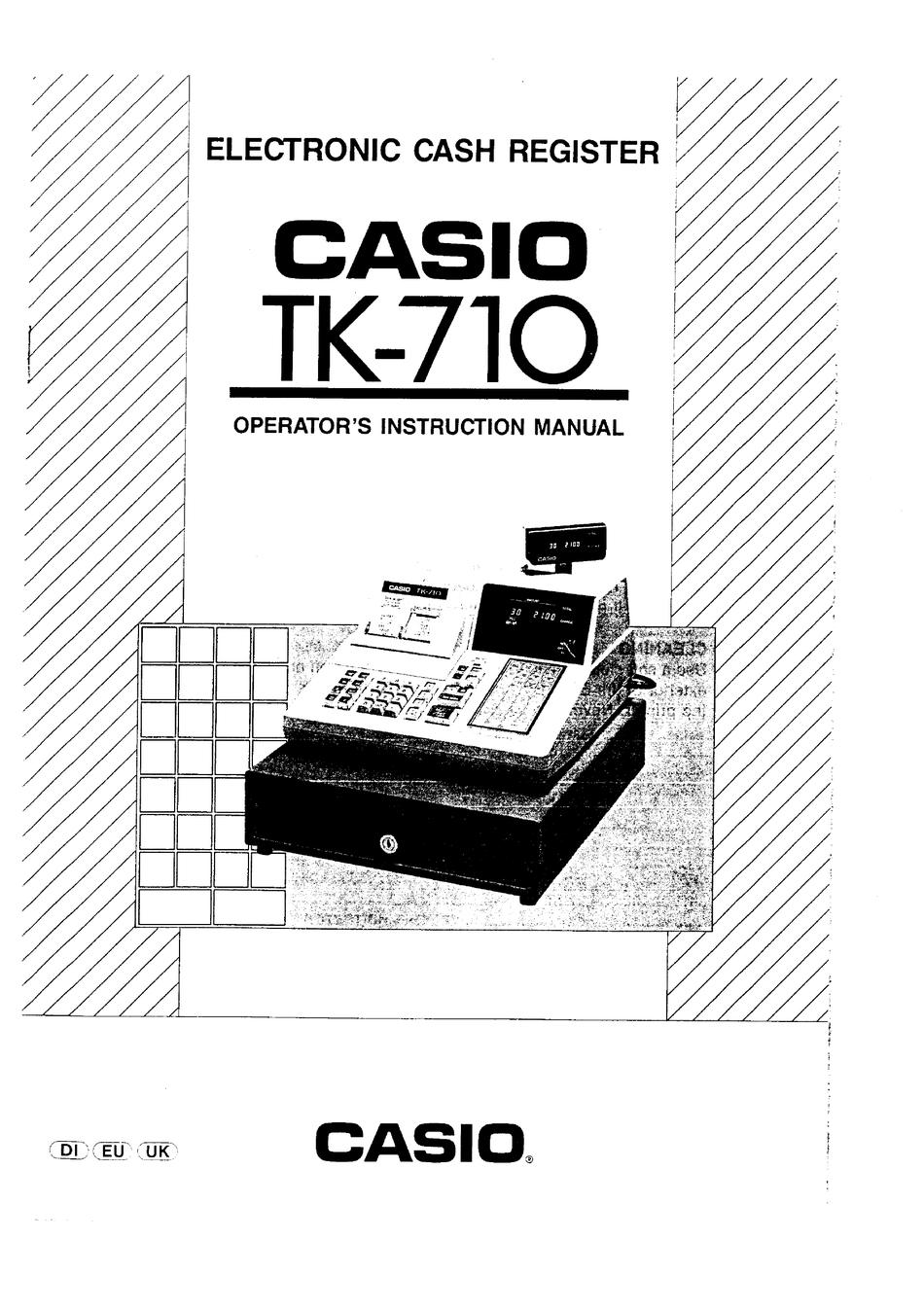CASIO TK-710 OPERATOR'S INSTRUCTION MANUAL Pdf Download