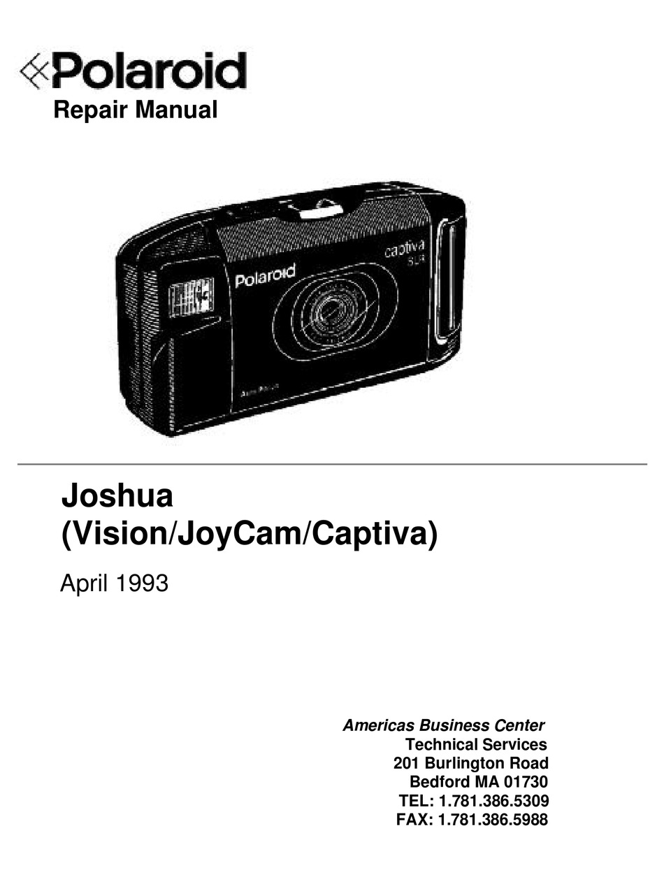 POLAROID JOSHUA VISION SERVICE MANUAL Pdf Download