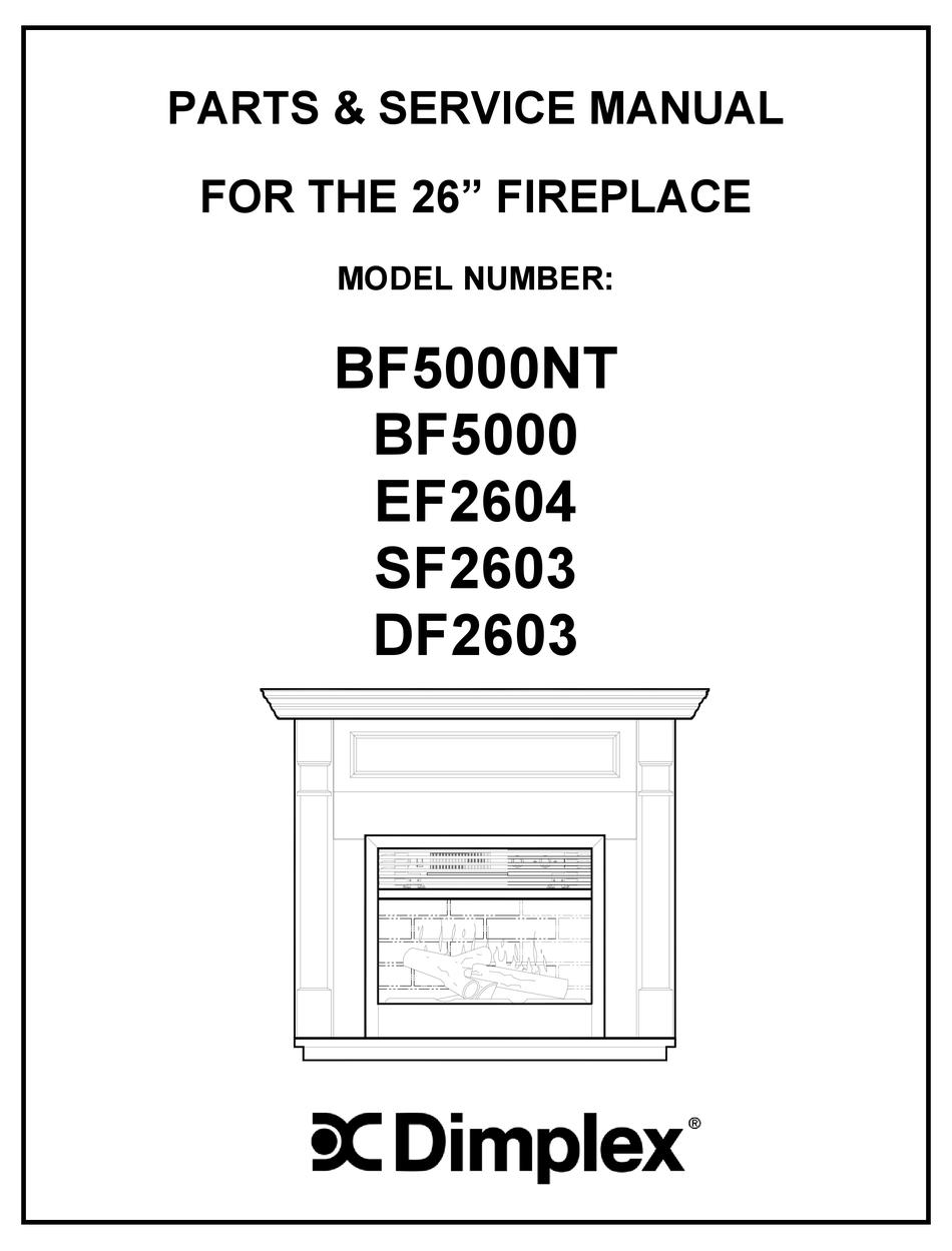 DIMPLEX BF5000NT PARTS & SERVICE MANUAL Pdf Download